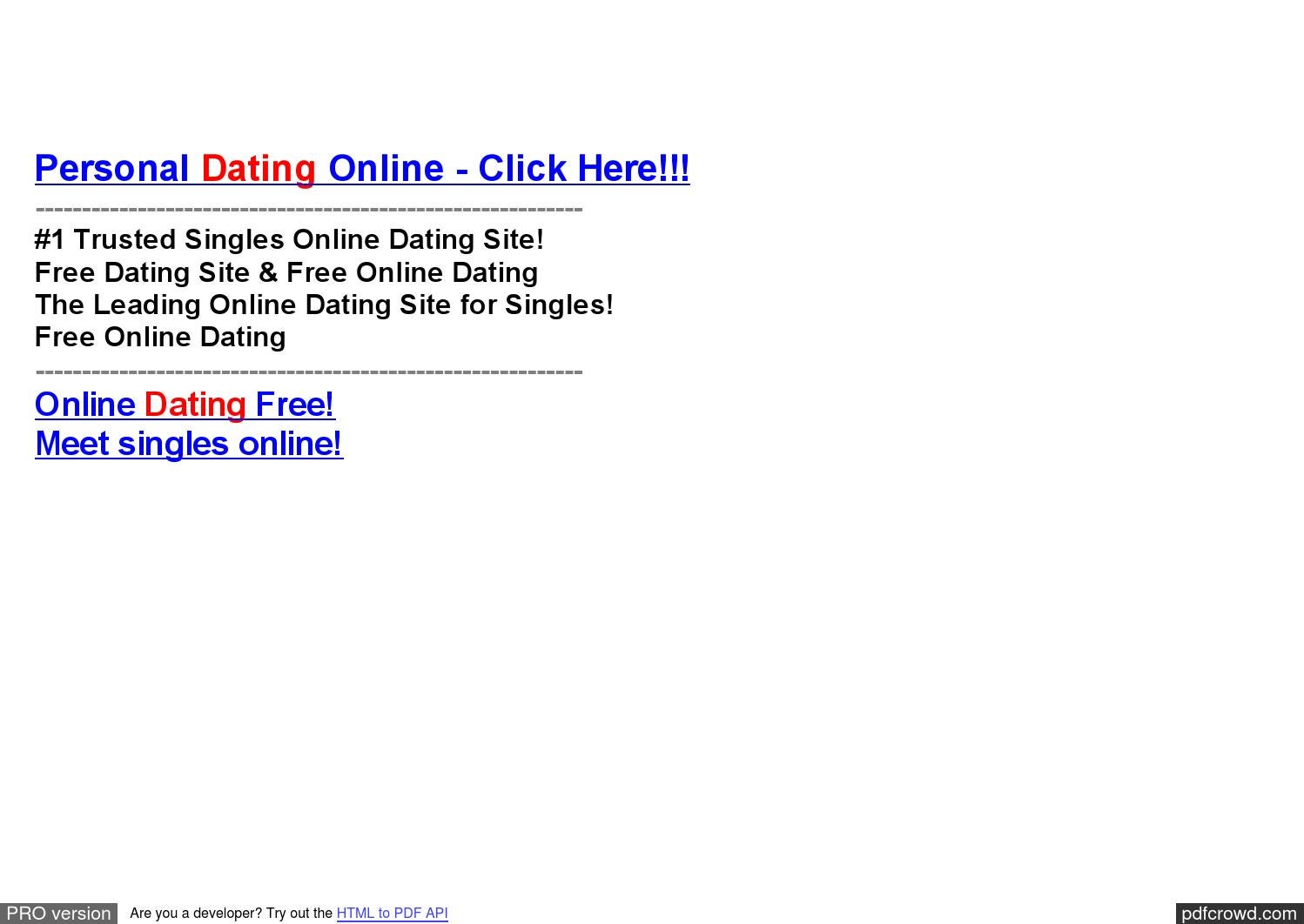 trusted online dating site for singles