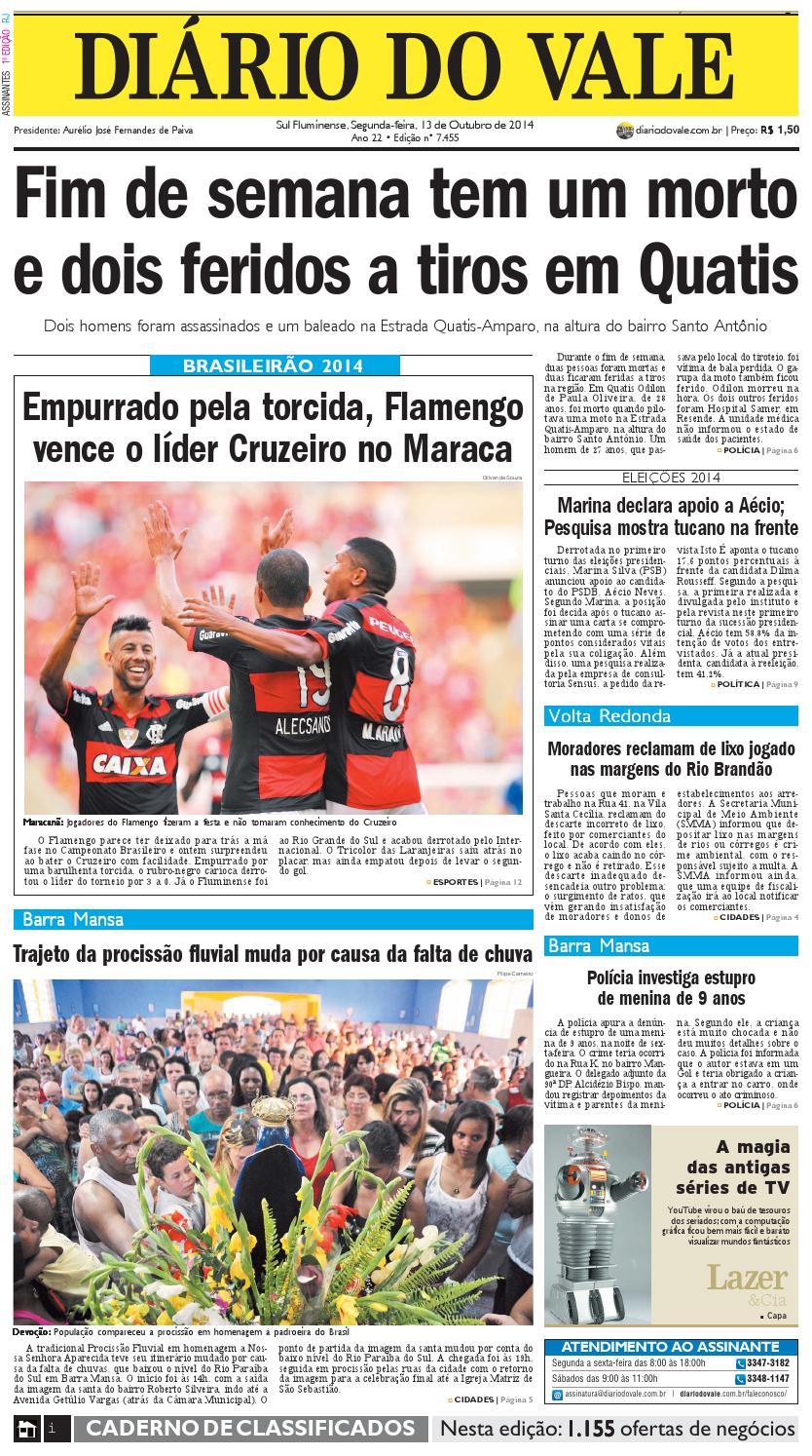 7455 diario segunda feira 13 10 2014 by Diário do Vale - issuu 4f39045a053d0