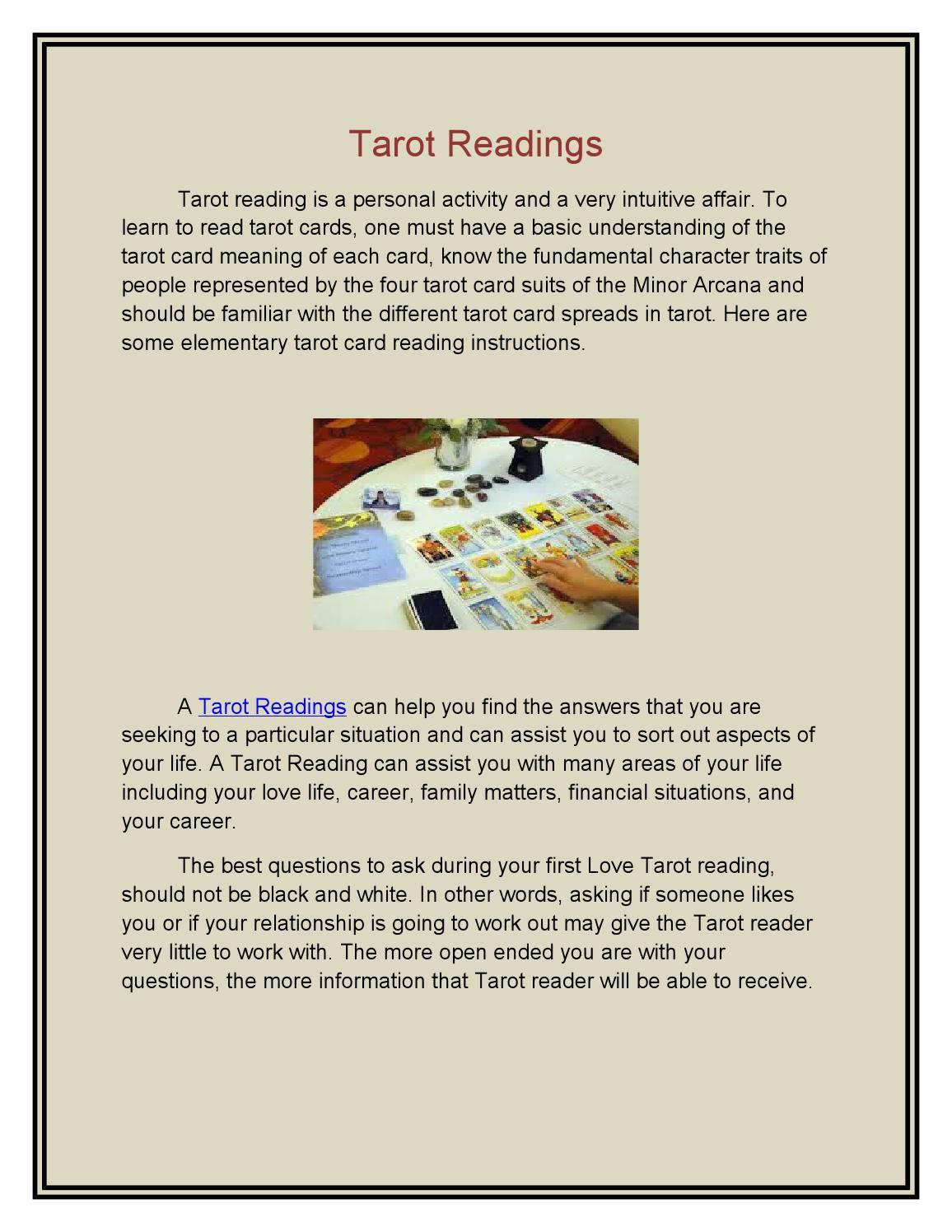 Tarot readings by psychicreadin   issuu