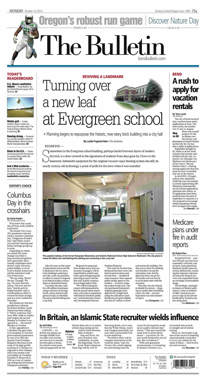 1750b8ed4e13 Bulletin Daily Paper 10-13-14 by Western Communications
