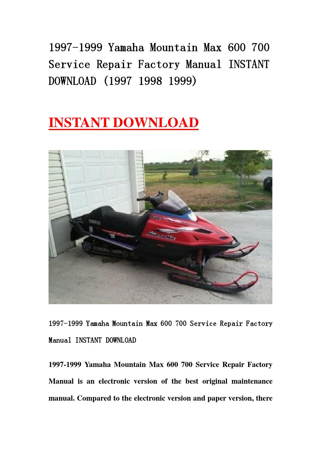 1997 1999 yamaha mountain max 600 700 service repair factory manual instant  download (1997 1998 1999 by hhsgefhsen - issuu
