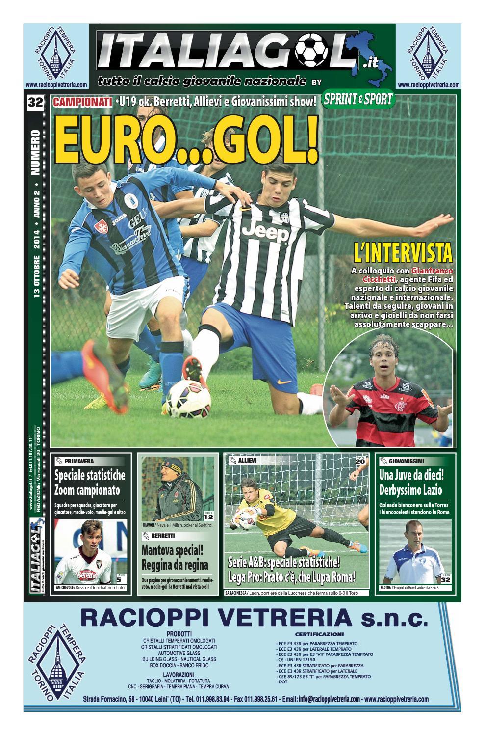ITALIAGOL NR. 32 - 13 ottobre 2014 by InfoPress - issuu fe87565c46a3