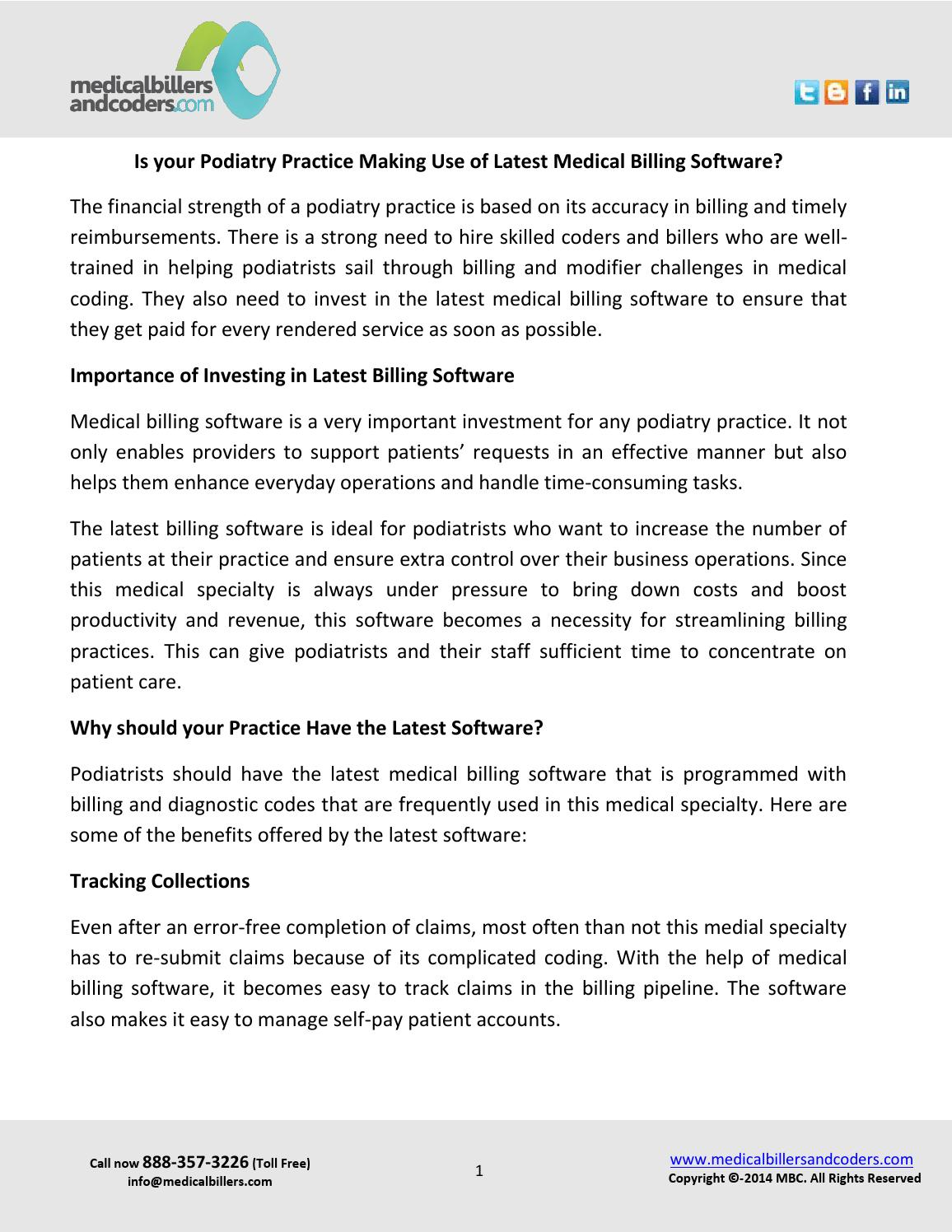 Is your podiatry practice making use of latest medical billing software by  Andersen Keen - issuu