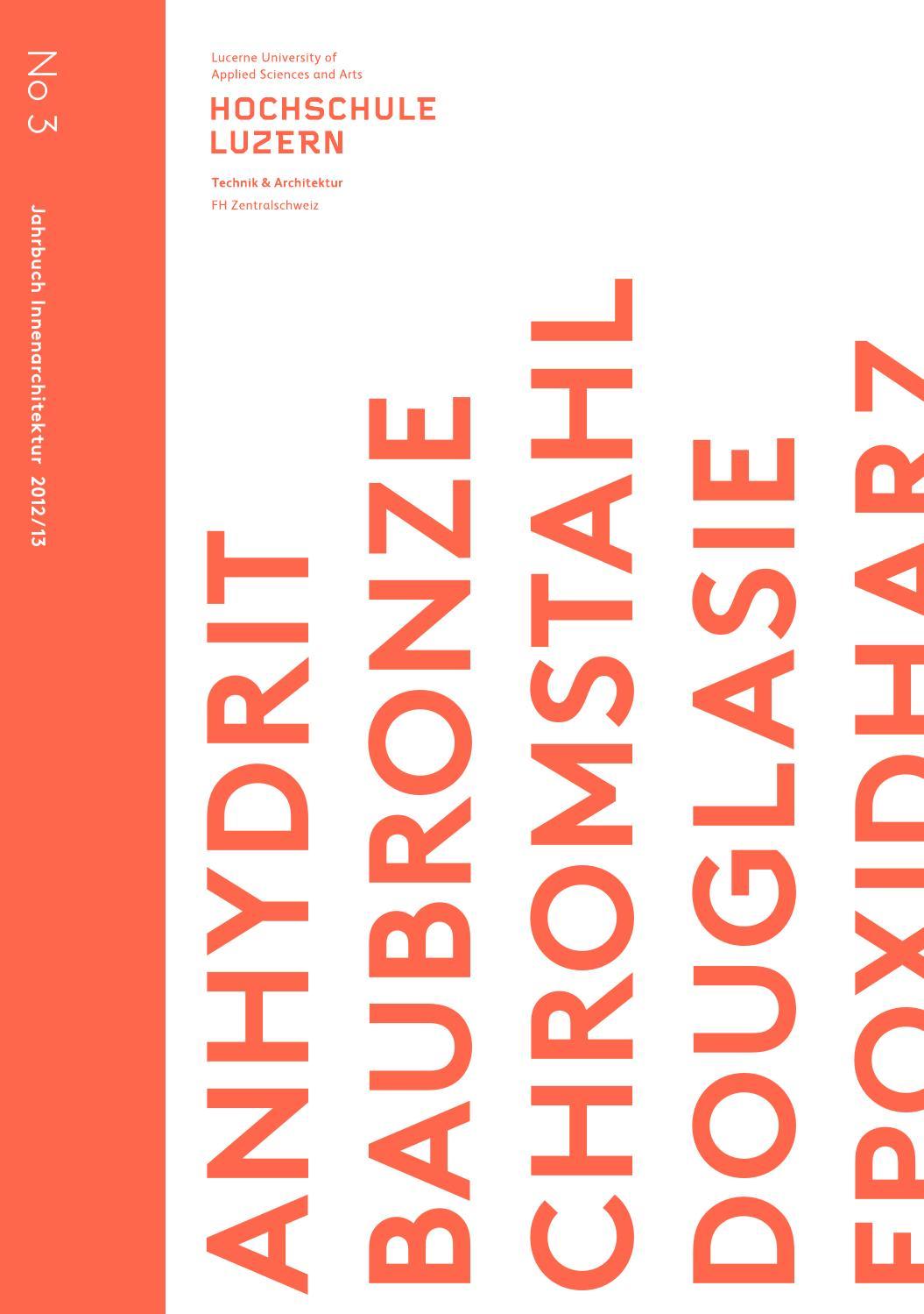 Jahrbuch innenarchitektur 2012 2013 by hochschule luzern for Innenarchitektur studiengang