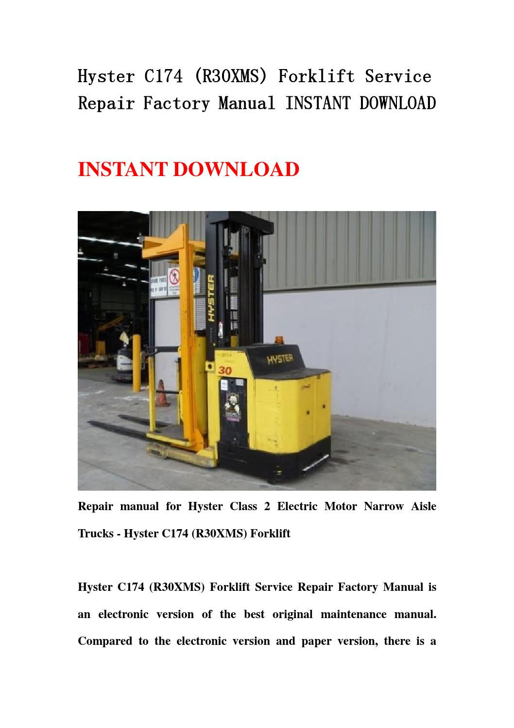 Hyster H100 Repair manual