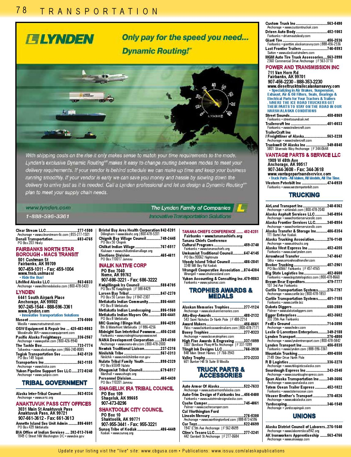 Worthington Ford Anchorage >> 2014 Alaska Native Directory Fall Yellow Pages Section 3 By