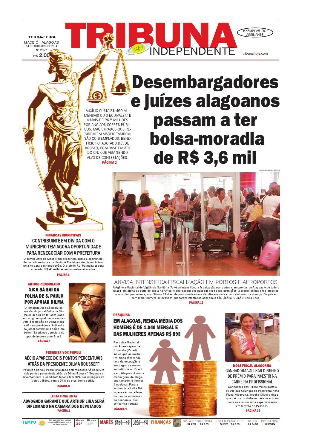 d27c08b8b Edição número 2171 - 14 de outubro de 2014 by Tribuna Hoje - issuu
