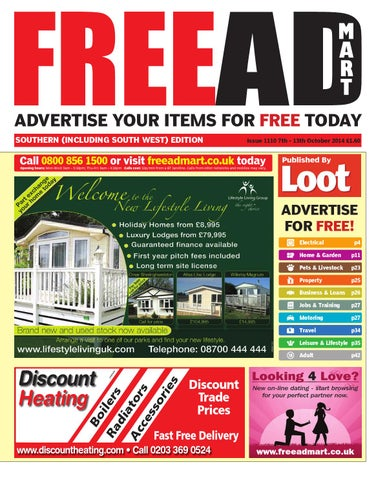 8a3da06e1 ADVERTISE YOUR ITEMS FOR FREE TODAY SOUTHERN (INCLUDING SOUTH WEST) EDITION