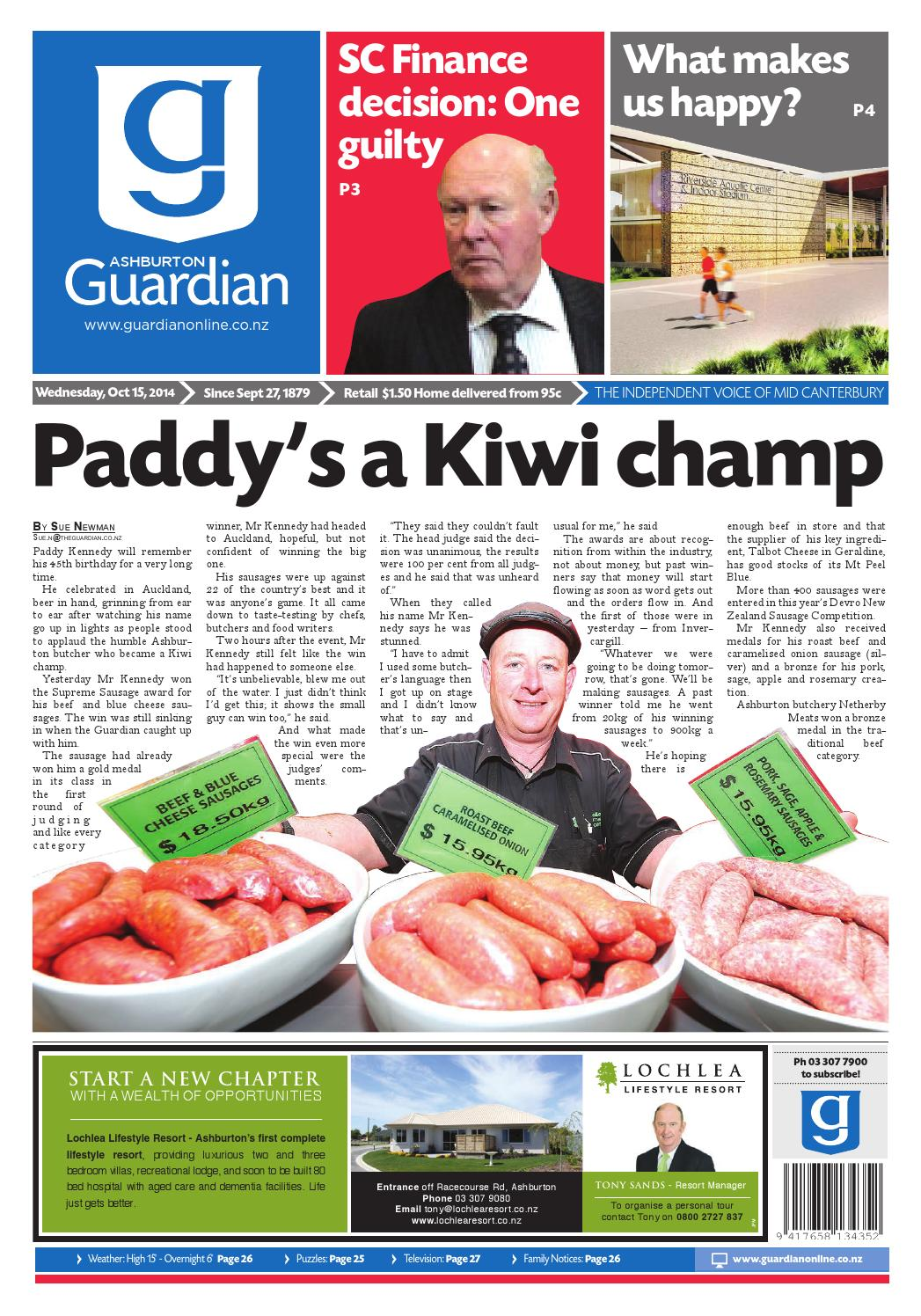 Ag 15 october, 2014 by Ashburton Guardian - issuu