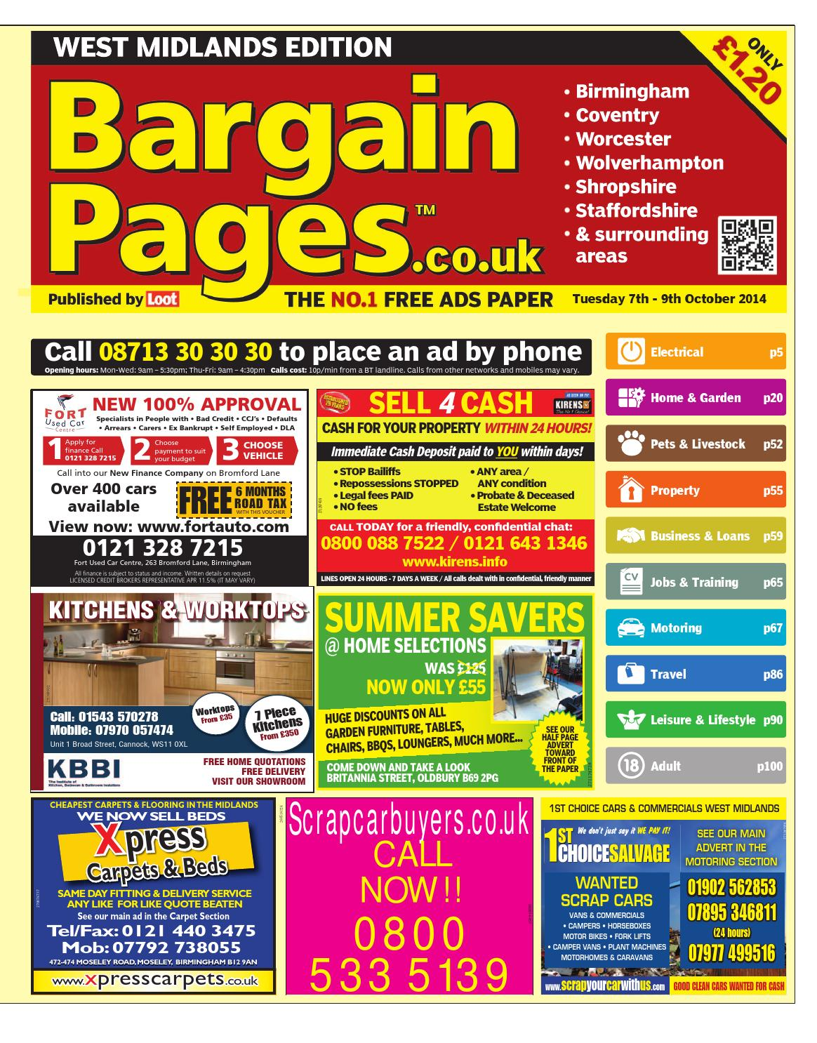 b416215e595 Bargain Pages West Midlands 7th October 2014 by Loot - issuu