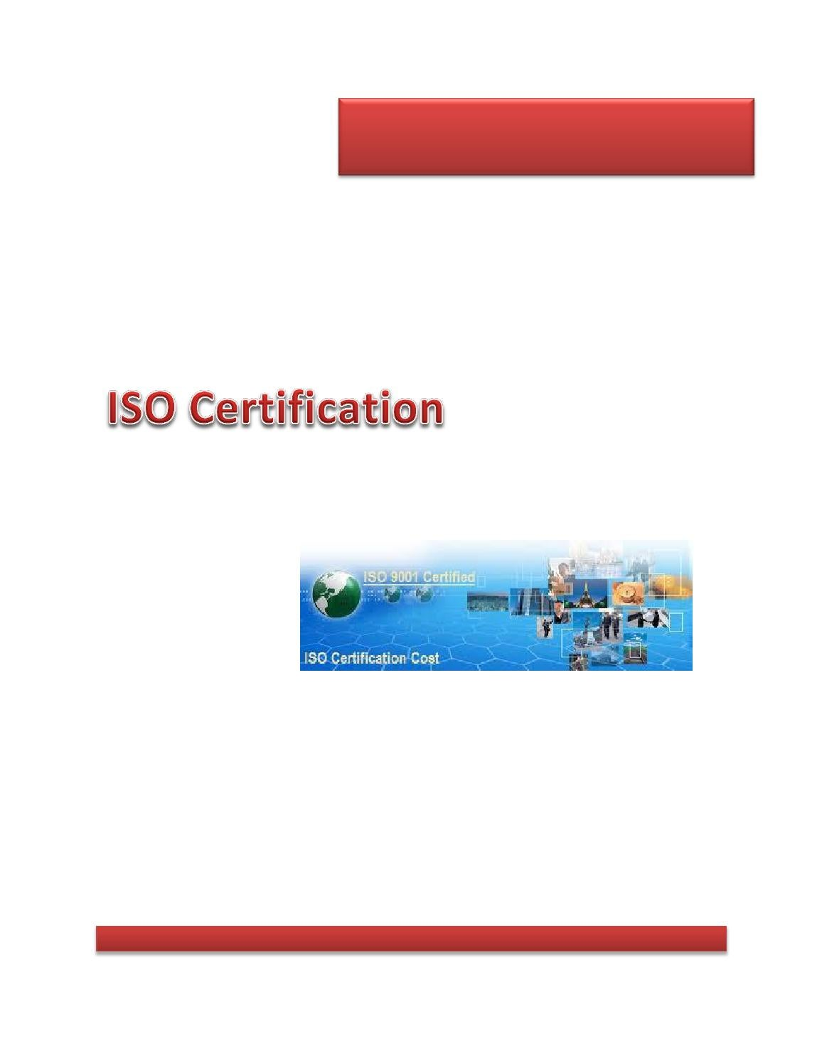 Iso Certification By Rebekah Semson Issuu