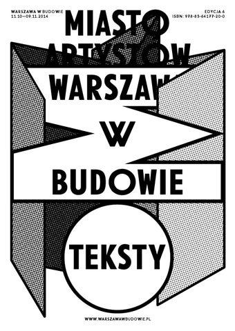 Warszawa W Budowie 6 Miasto Artystów By Msn Warszawa Issuu