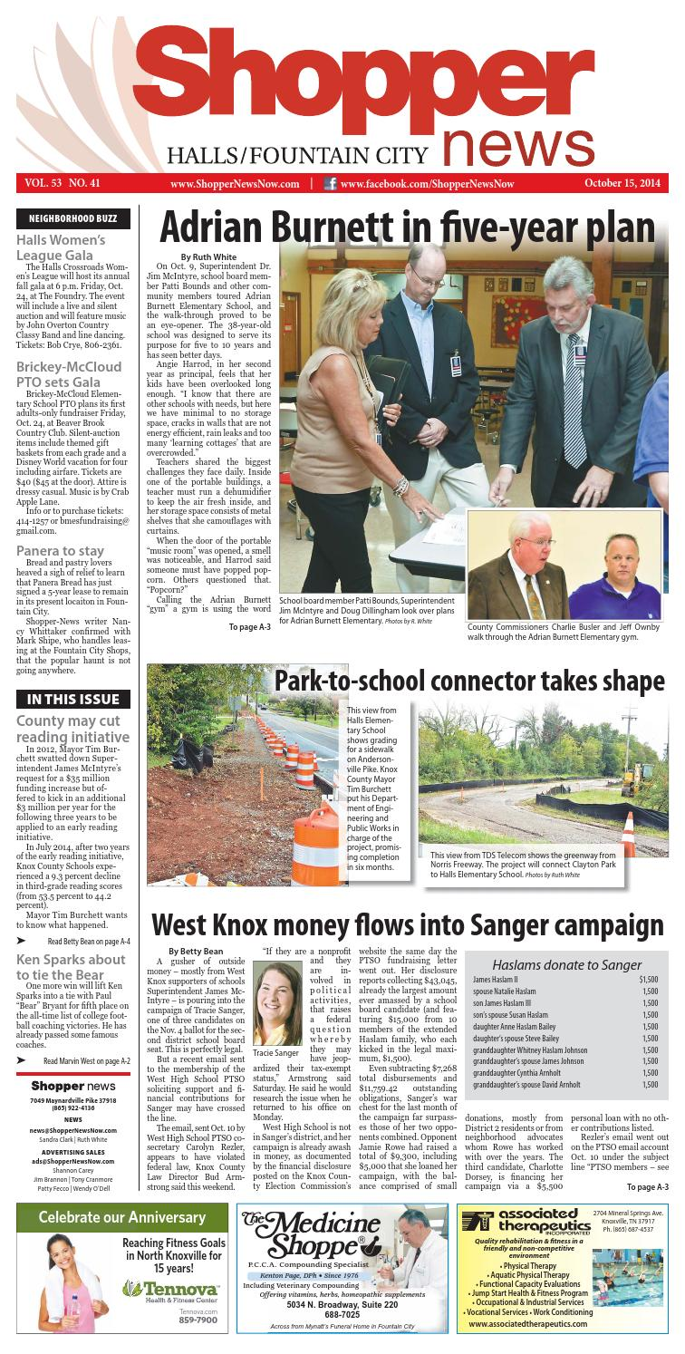 Halls/Fountain City Shopper-News 101514 by Shopper-News - issuu