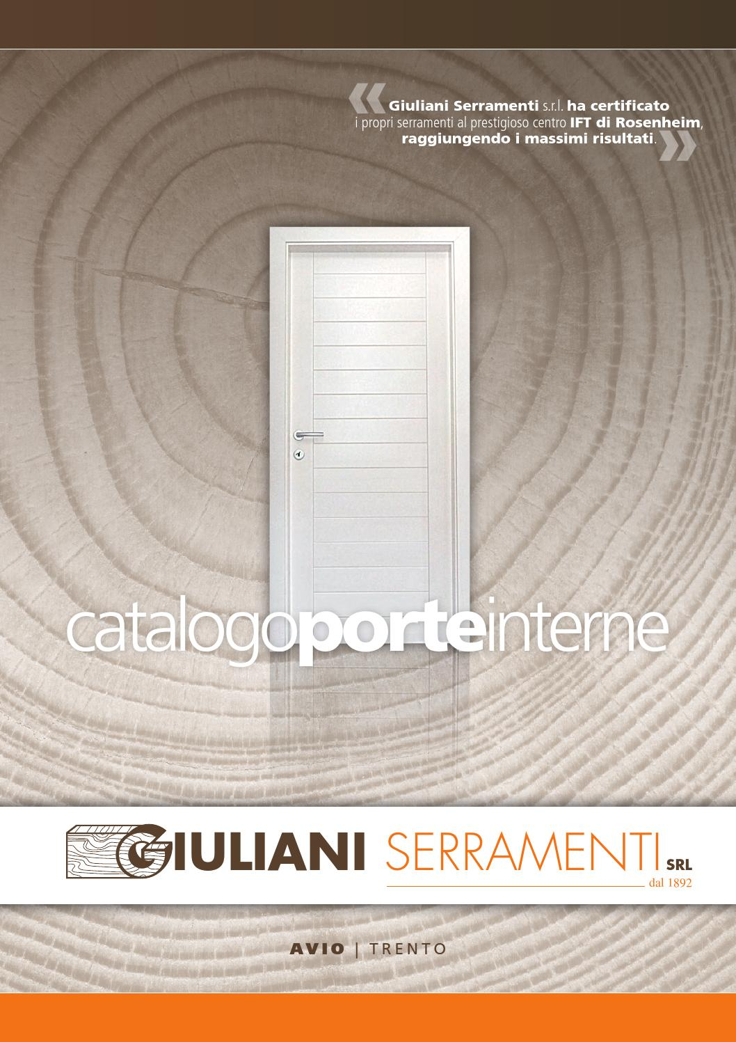 Giuliani catalogo porte interne by maccom internet for Porte marketing