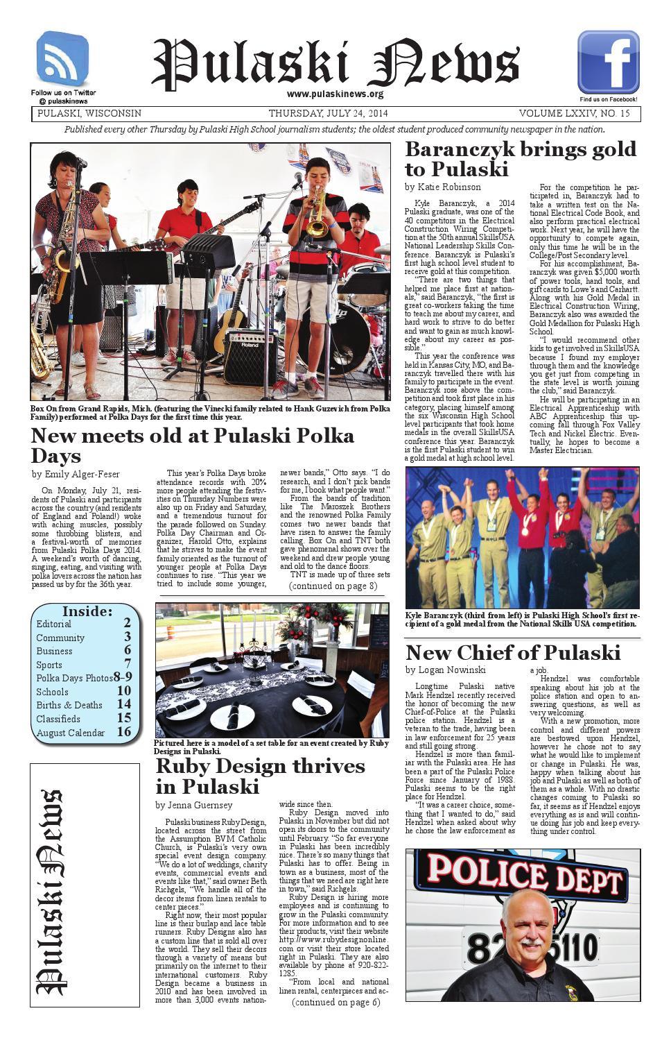 4aff2d5be 7-24-2014 by Pulaski News - issuu