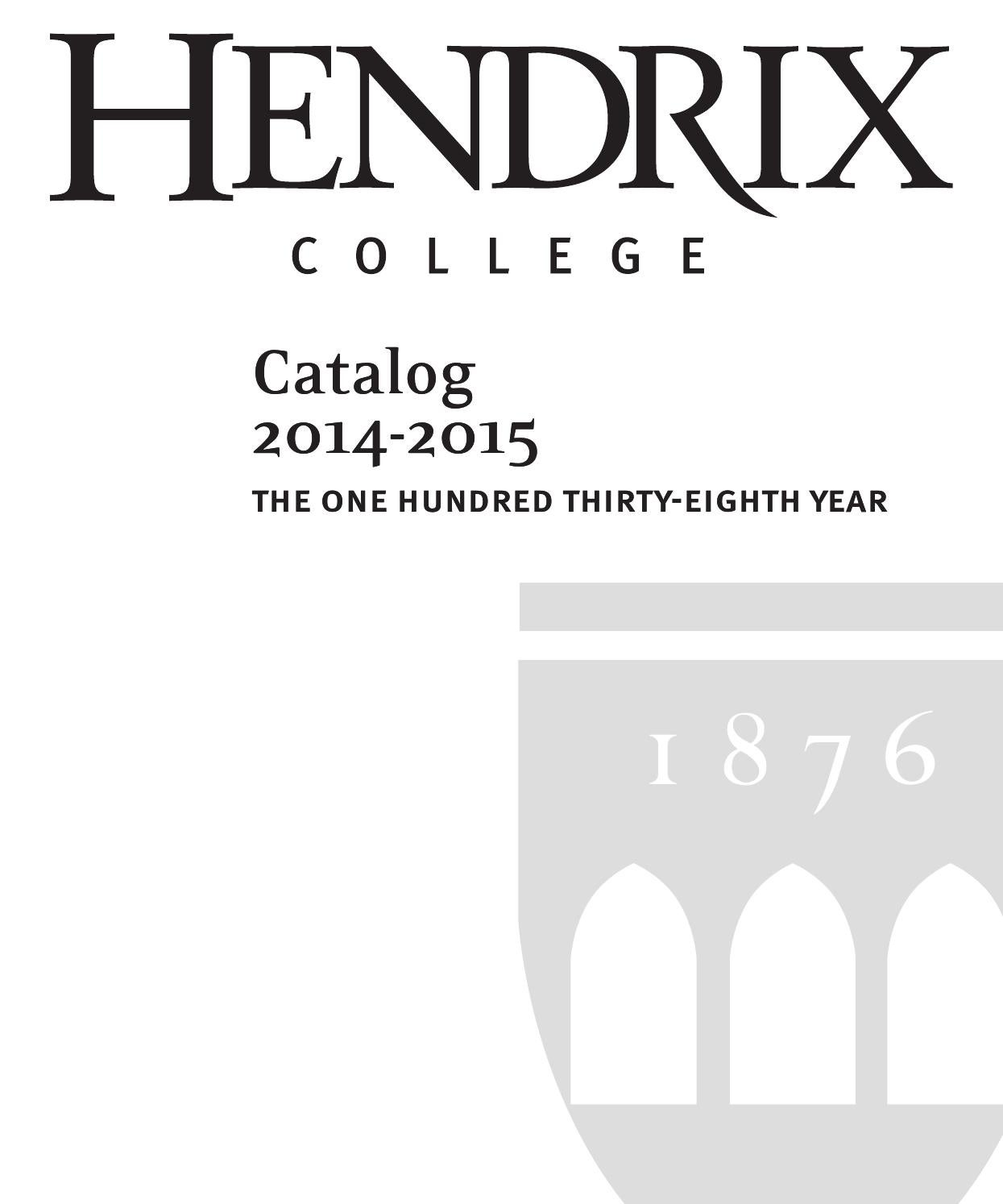 Hendrix catalog 2014 2015 by hendrix college issuu fandeluxe Gallery
