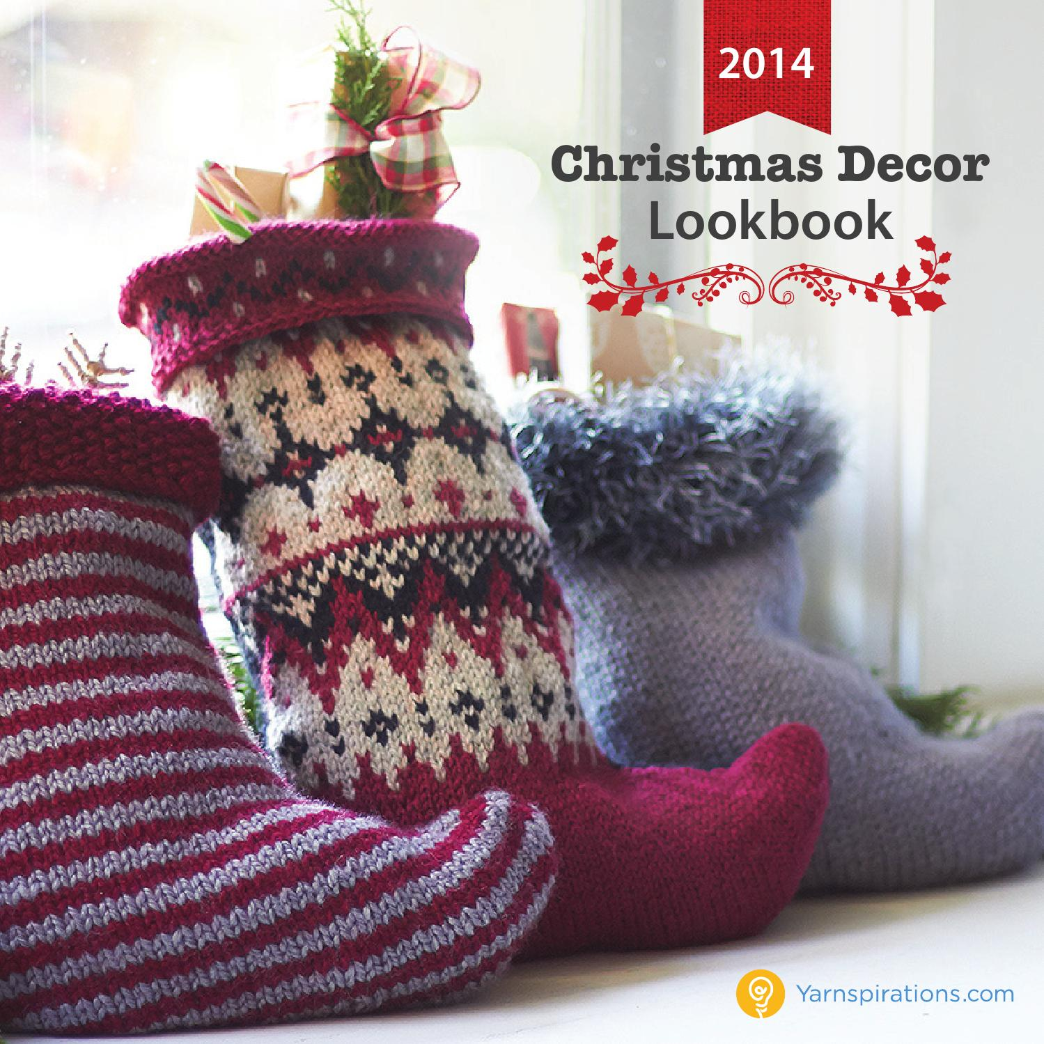 Yarnspirations 2014 christmas decor lookbook by for 2014 christmas decoration
