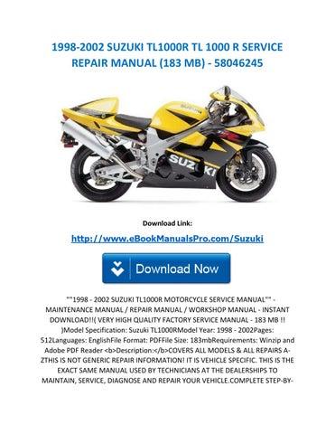 1998 2002 suzuki tl1000r tl 1000 r service repair manual (183 mb) 58046245