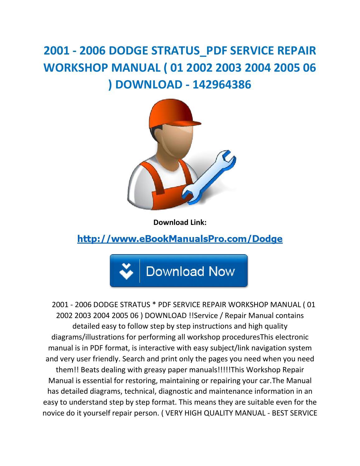 2001 2006 Dodge Stratus Pdf Service Repair Workshop Manual