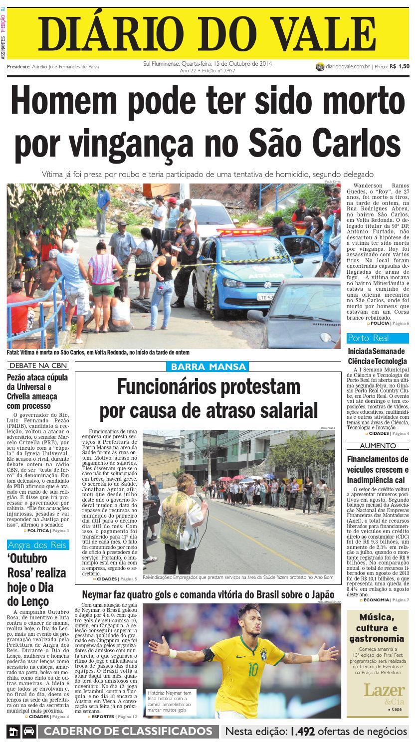 7457 diario quarta feira 15 10 2014 by Diário do Vale - issuu abc2b1e55b0