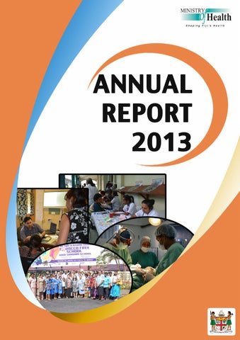 Annual Report 2013 By Ministry Of Health Fiji Islands