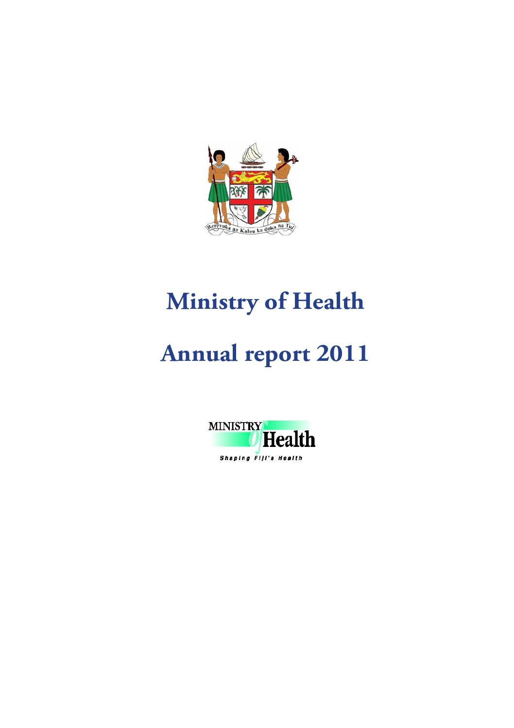 Annual Report 2011 by Ministry of Health - Fiji Islands - issuu