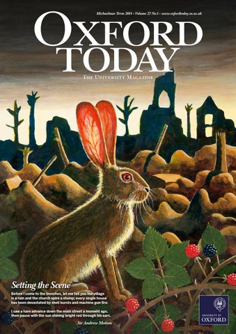 Oxford Today Michaelmas Term 2014 By University Of Oxford Issuu