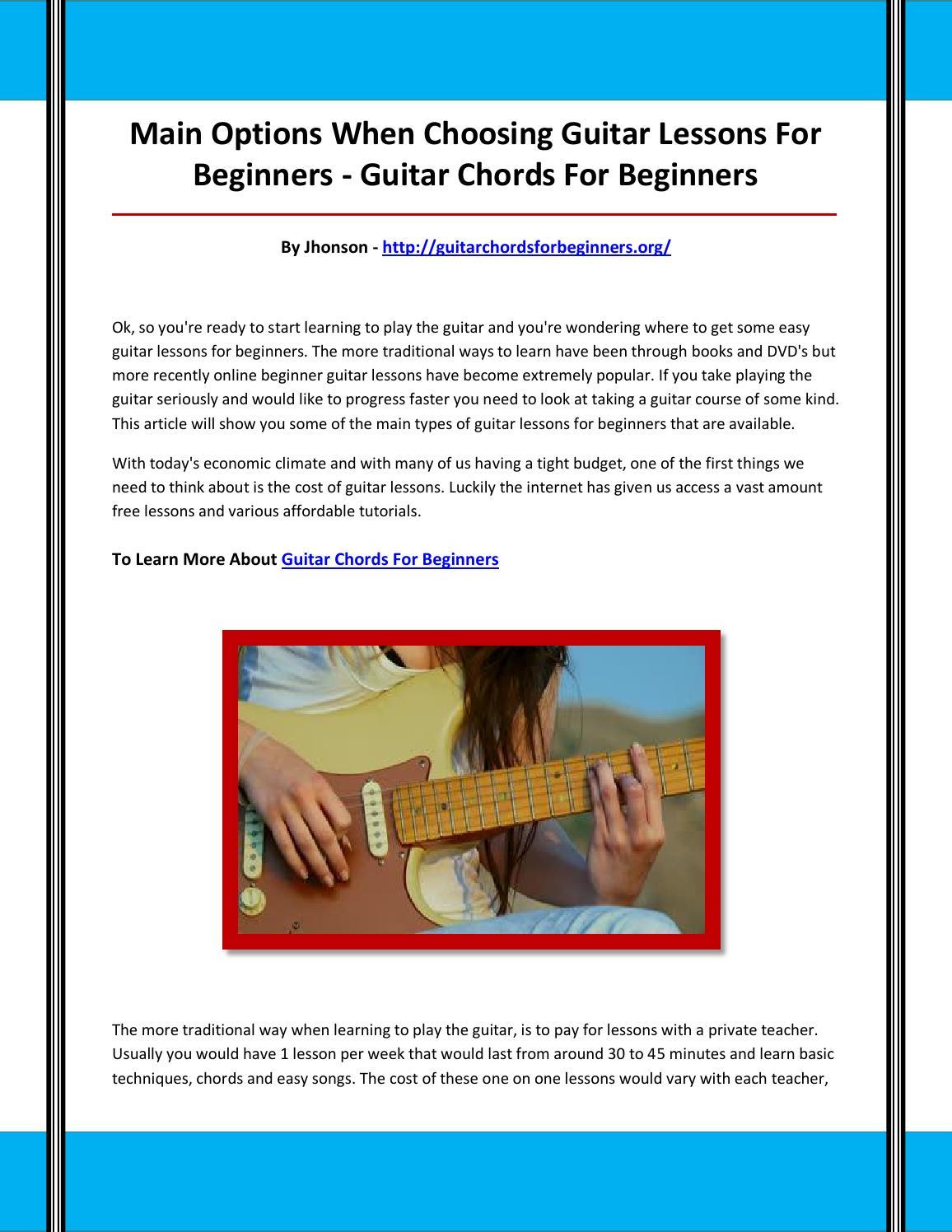 Guitar Chords For Beginners By Nbmnjghbnjghbyg Issuu