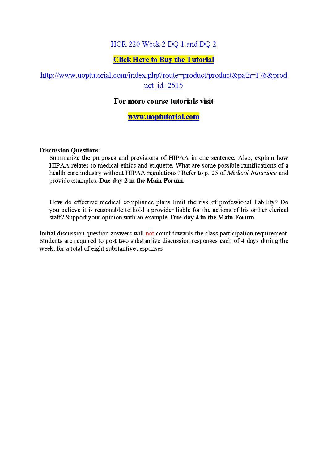 Hcr 220 week 2 dq 1 and dq 2 by nanda17 - issuu