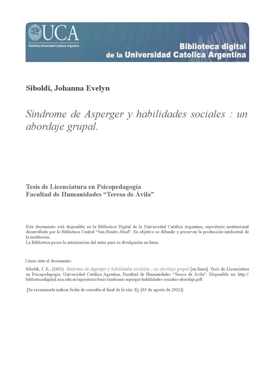 Síndrome De Asperger Y Habilidades Sociales By Asperger Colima Issuu