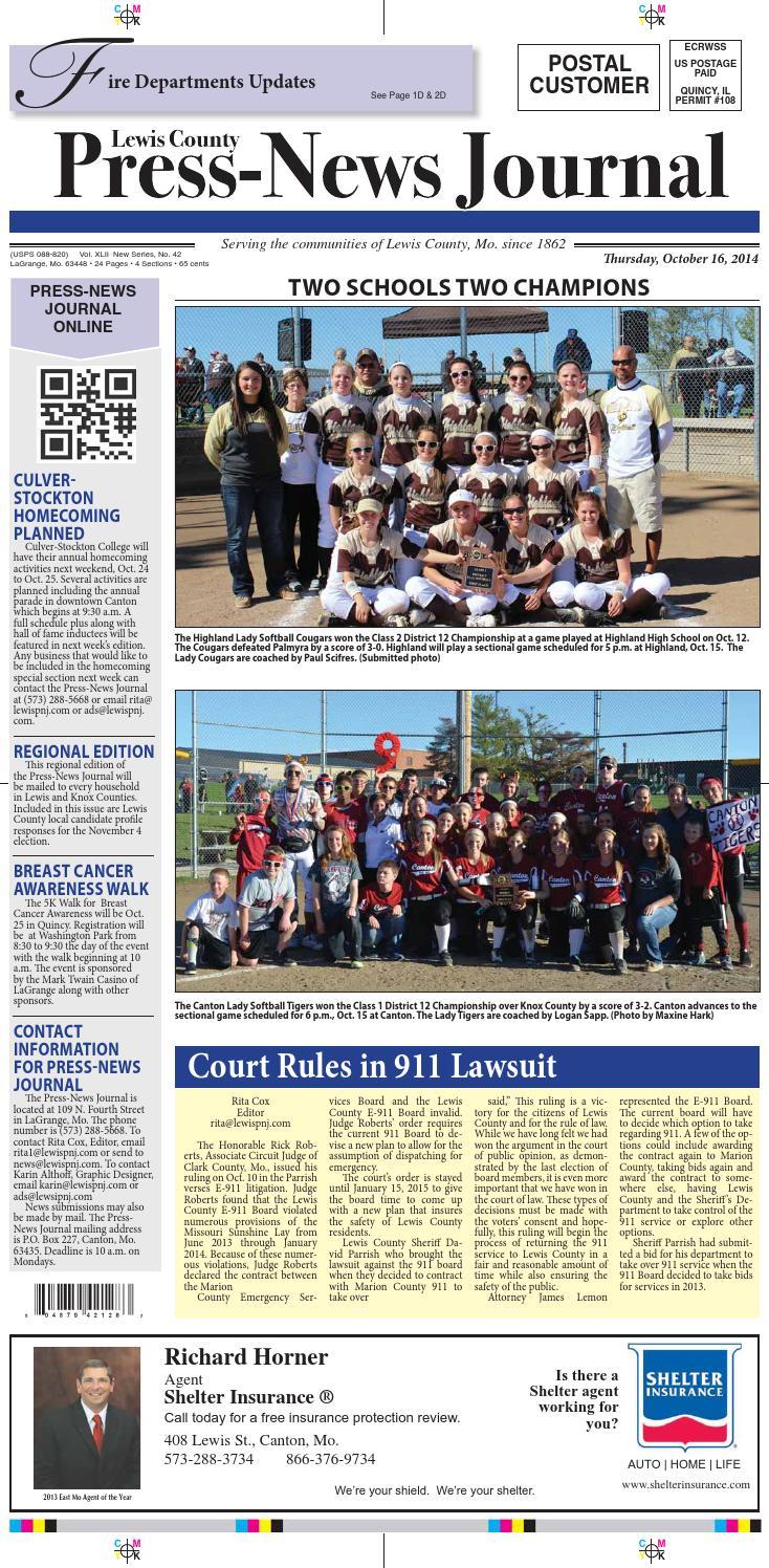 Press New Journal Oct 16-2014 by Press-News Journal - issuu