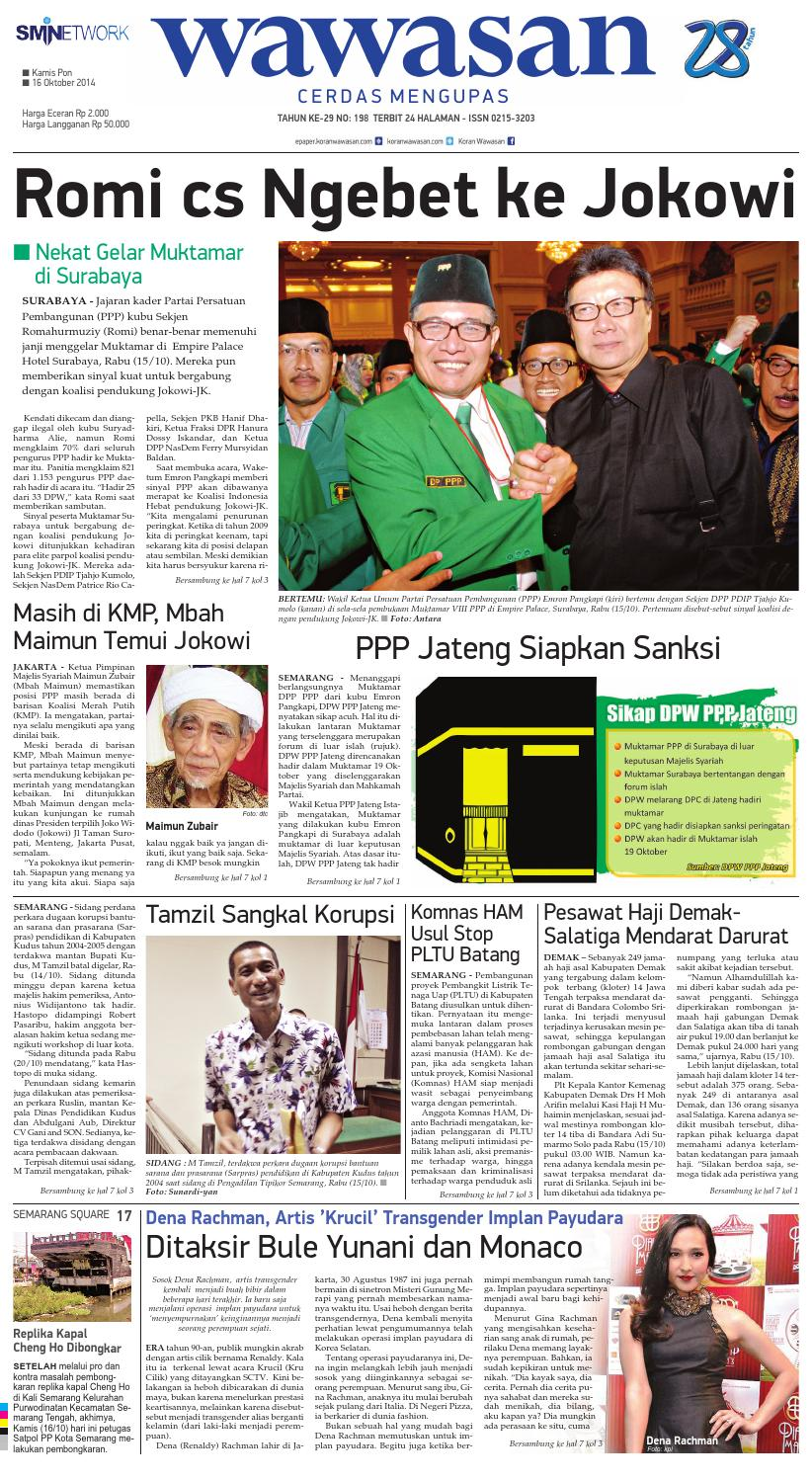 Wawasan 16 Oktober 2014 By Koran Pagi Issuu Produk Ukm Bumn Barbekyu Kelitik Surabaya