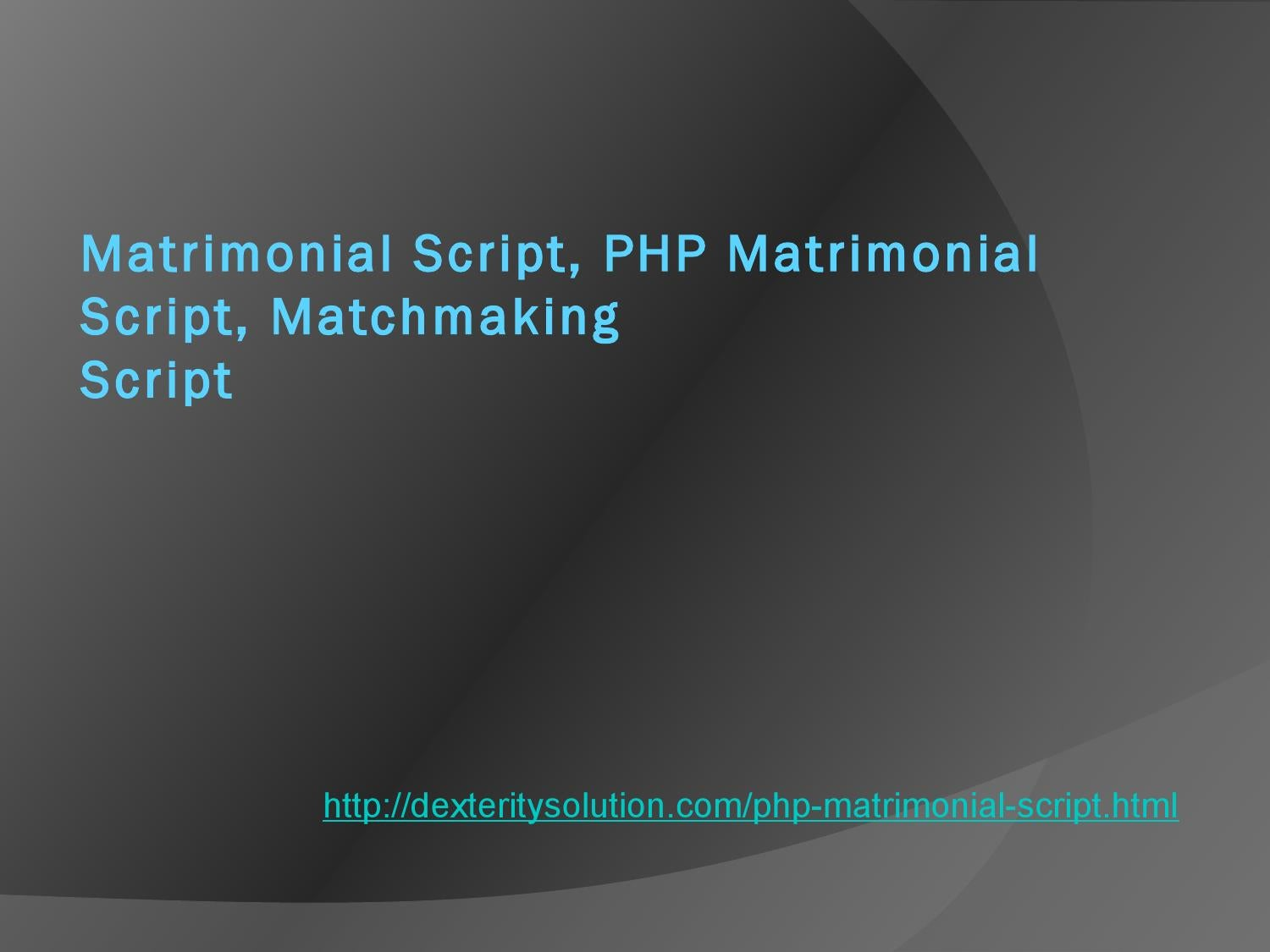 Matchmaking php