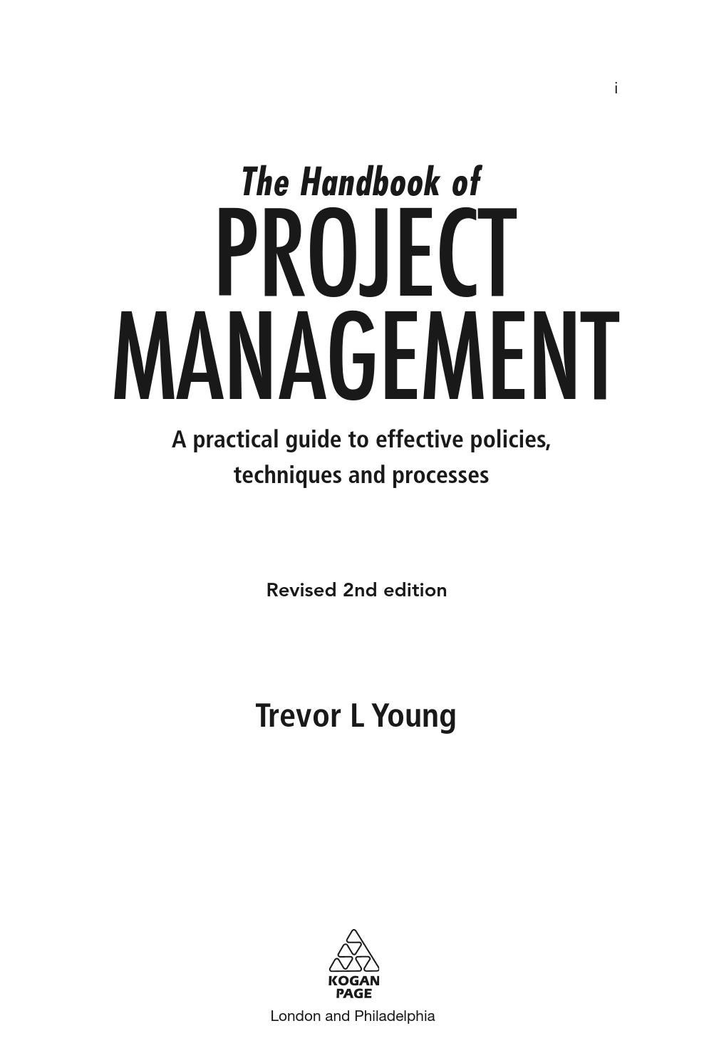 The Handbook Of Project Management A Practical Guide To Effective Policies And Procedures 2nd Revise By Chamroeun Issuu