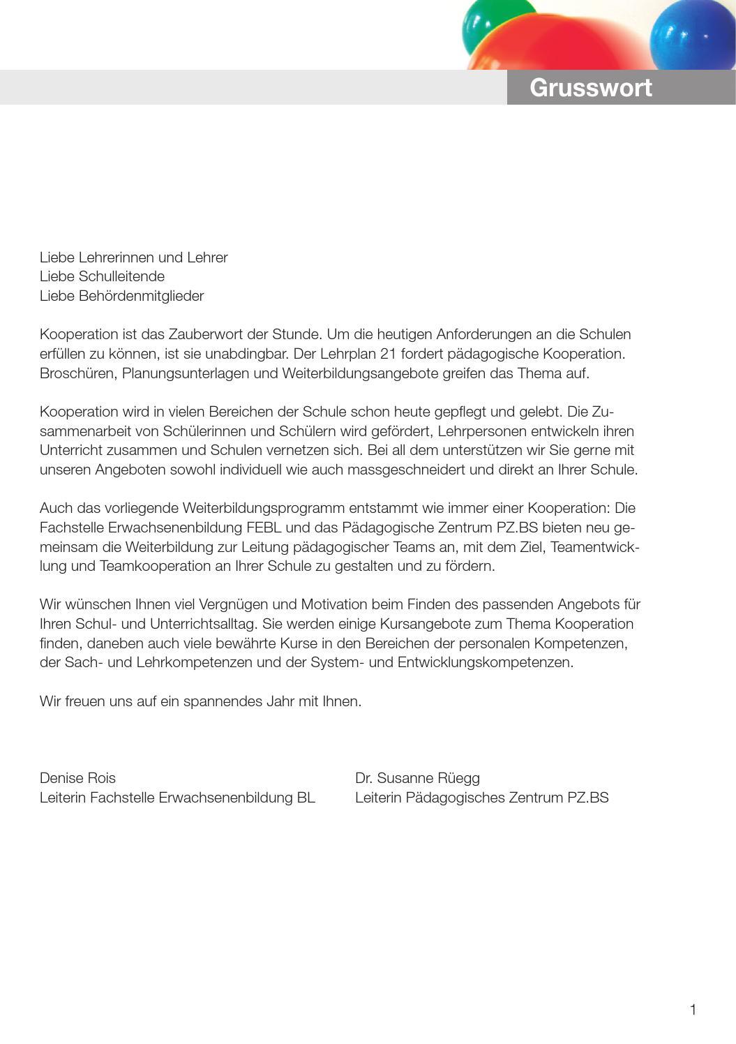 Weiterbildungsangebote 2015 von FEBL und PZ.BS by Gisin Software ...