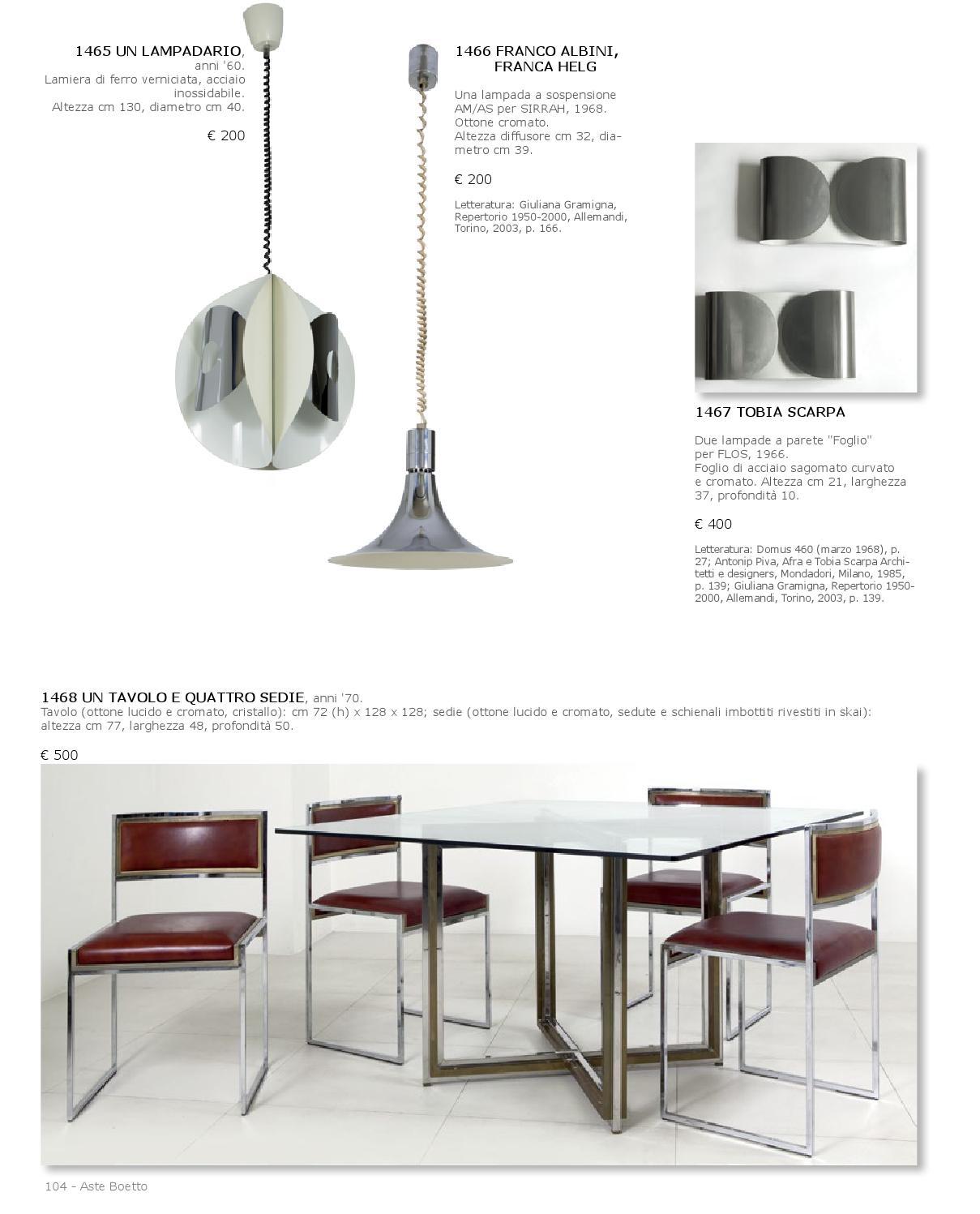 Tavolo E Sedie Anni 70.Asta Design E Arte Decorativa By Aste Boetto Issuu