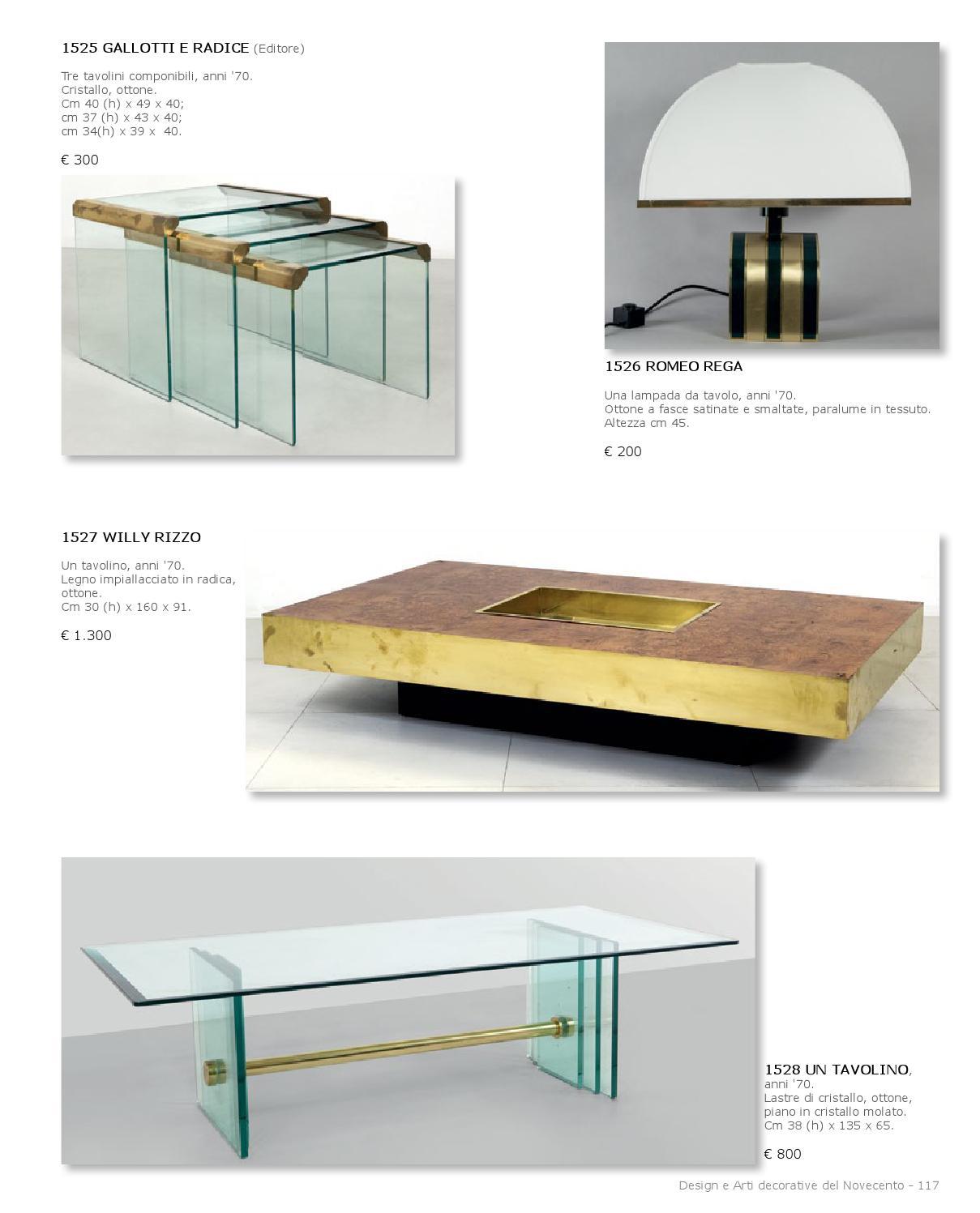 Tavolo Cristallo Design Anni 70.Asta Design E Arte Decorativa By Aste Boetto Issuu