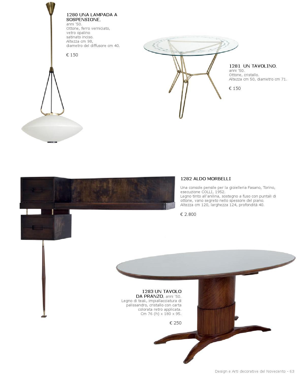 Altezza Di Un Tavolo Da Pranzo.Asta Design E Arte Decorativa By Aste Boetto Issuu