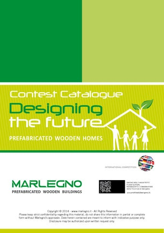 Contest Catalogue Designing The Future By Marlegno Prefabricated