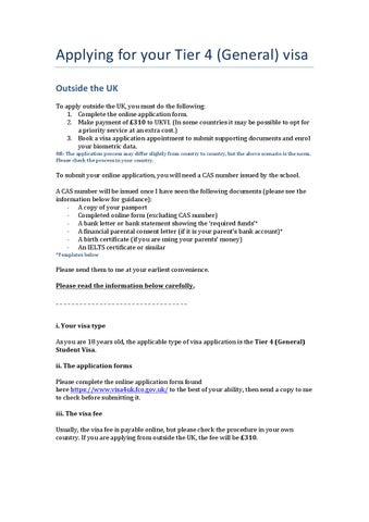 Visa Guidance Applying Outside The Uk General By Fabio Carpene Issuu