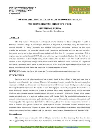 influence of job satisfaction on employee turnover intentions management essay To determine the job satisfaction and turnover intentions of employees in selected restaurants in dasmariñas city, cavite in partial fulfilment of requirement for the degree of bachelor of science in hotel and restaurant management nimrod villanueva jophet karl m guinto jocel justin lara march 2014 to determine the job satisfaction and turnover intentions of employees in selected.