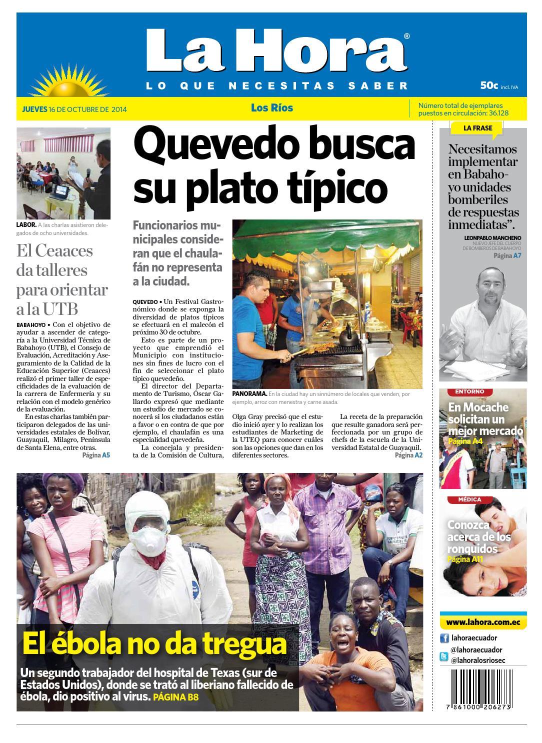 los rios 16 octubre 2014 by diario la hora ecuador issuu