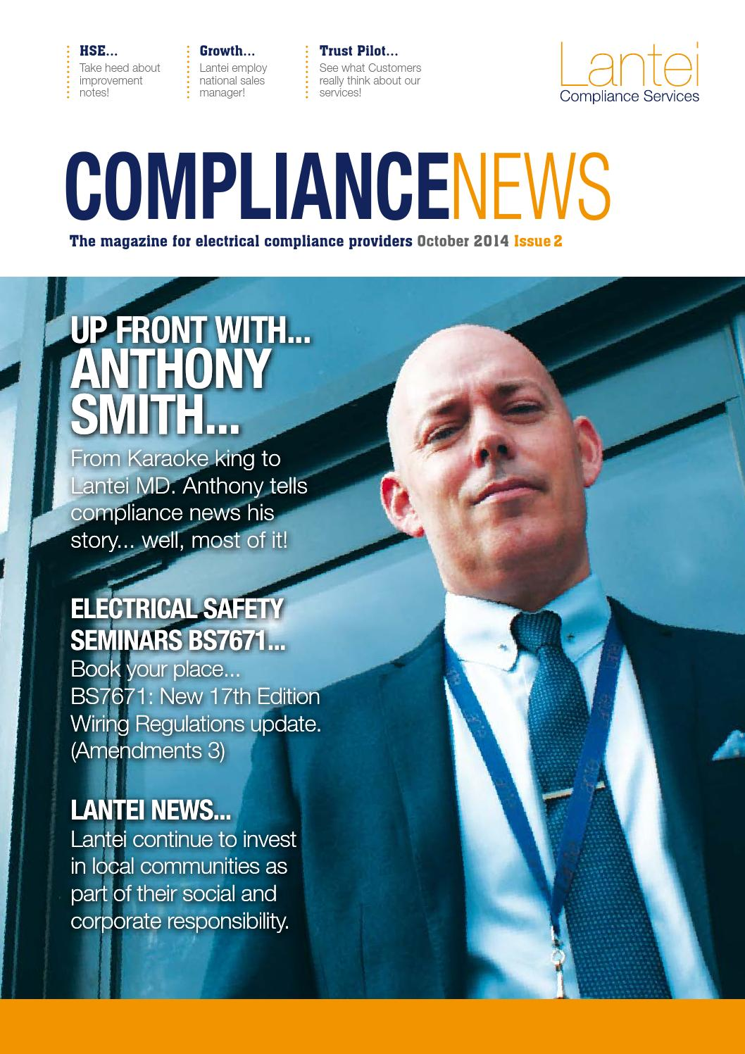 Compliance News By Lantei Services Issuu Bs7671 Wiring Regulations Book