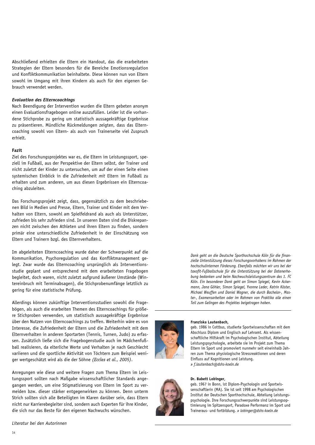 IMPULSE 01/02/2014 by Deutsche Sporthochschule Köln - issuu
