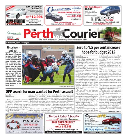 Perth101614 by Metroland East - The Perth Courier - issuu 5cc9682735fc