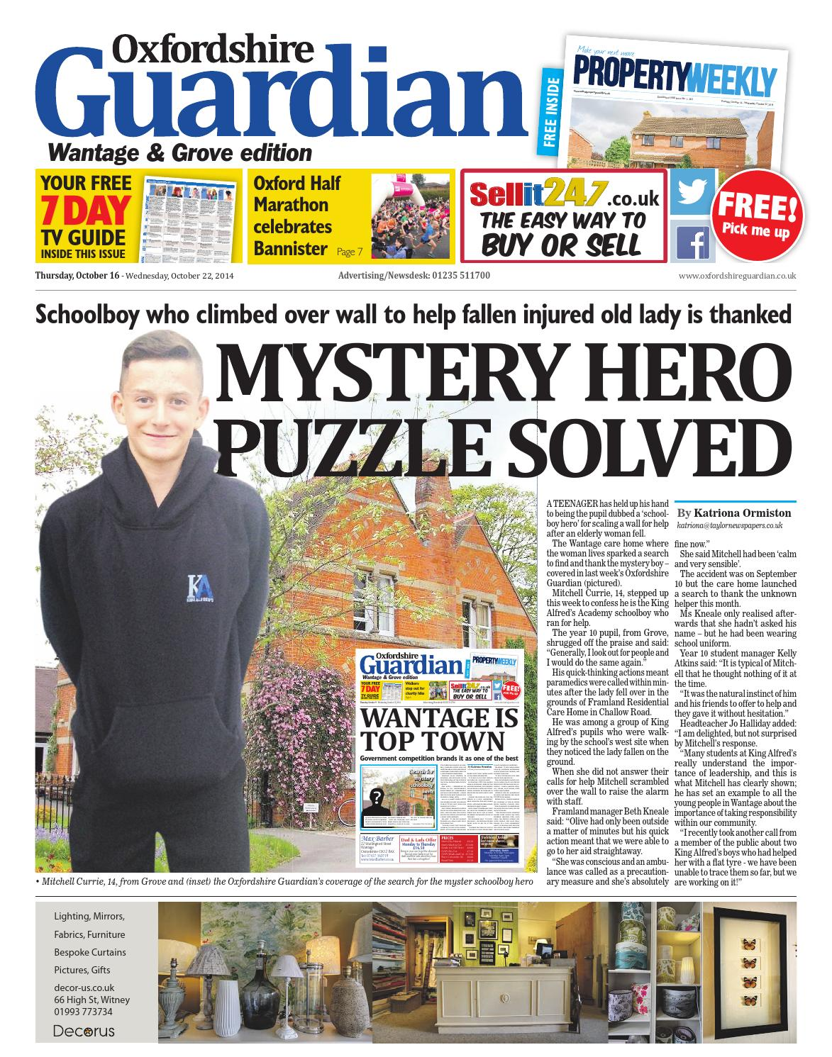 d4eb707728e0 16 october 2014 oxfordshire guardian wantage by Taylor Newspapers - issuu
