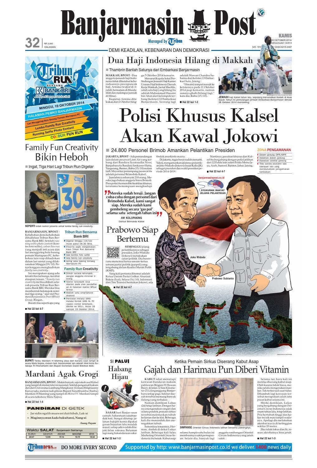 Banjarmasin Post Kamis 16 Oktober 2014 by Banjarmasin Post - issuu c67bb0b69e