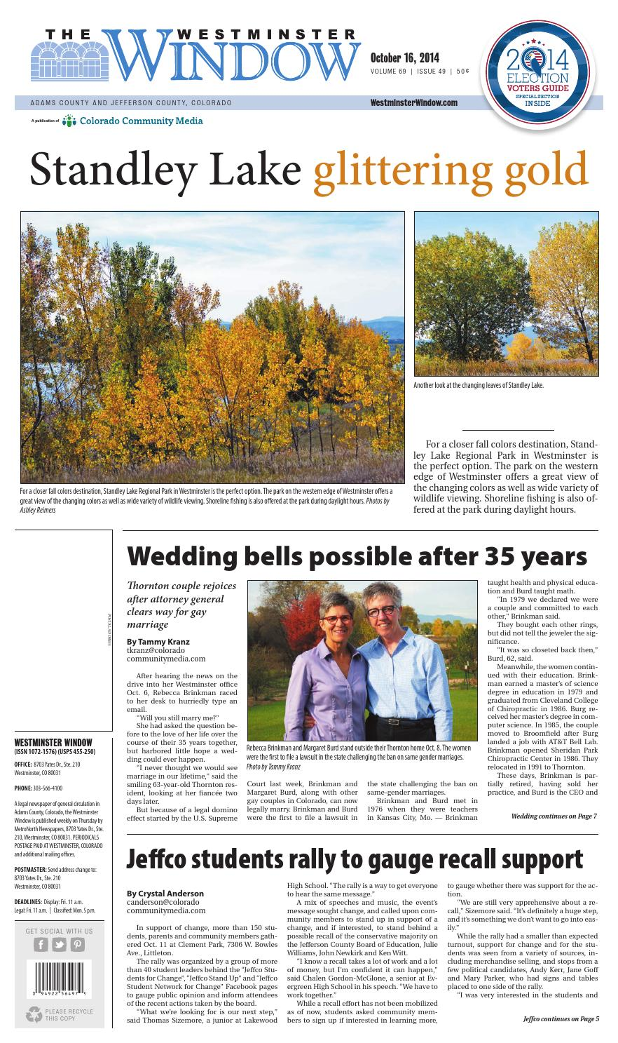 Westminster window 1016 by colorado community media issuu for Standley lake fishing