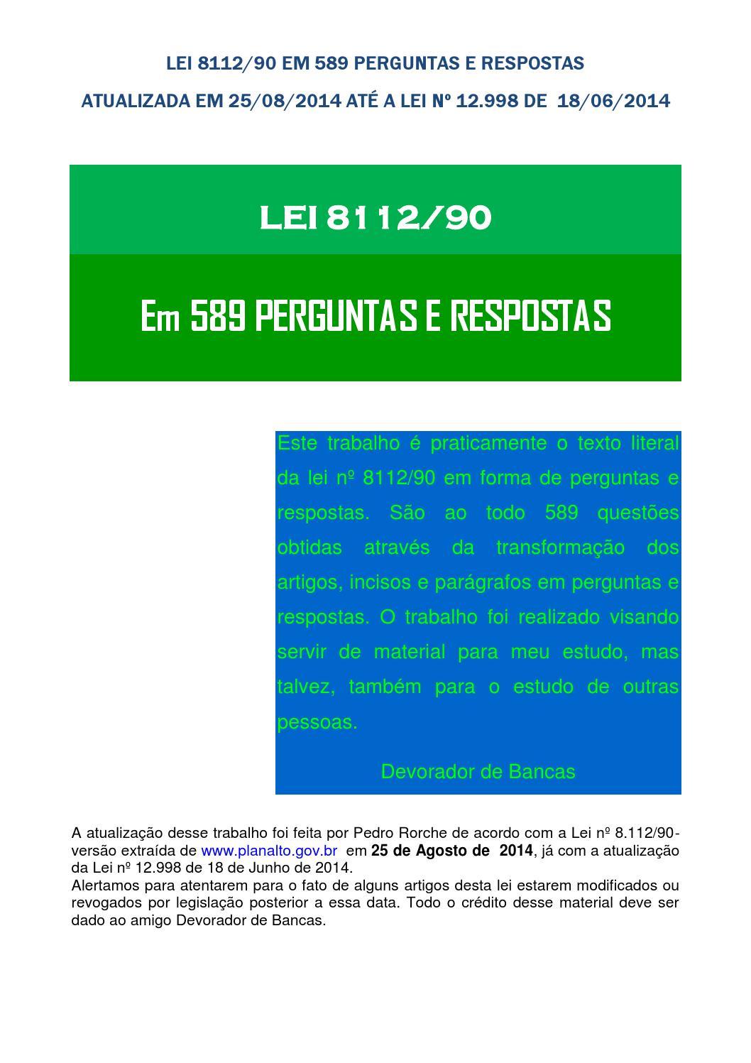 LEI NO 8112 90 EM DOWNLOAD