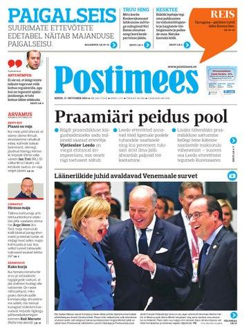 47f057f2dfd Postimehe paberleht 17 10 2014 by Postimees - issuu